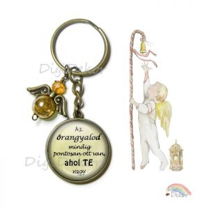 angyalkás kulcstartó