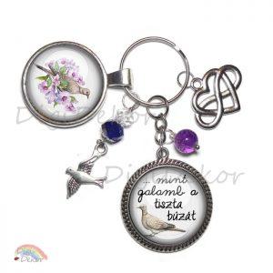 Romantikus ajándék, feliratos kulcstartó szerelmeseknek.