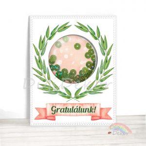 Gratulációs képeslap, ballagási vagy diplomaosztó ajándék