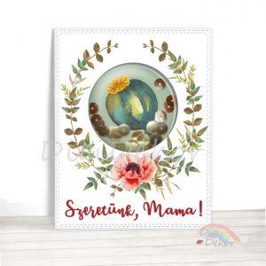 Szeretünk, Mama! képeslap anyák napjára