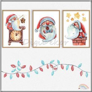 Karácsonyi fali dekoráció