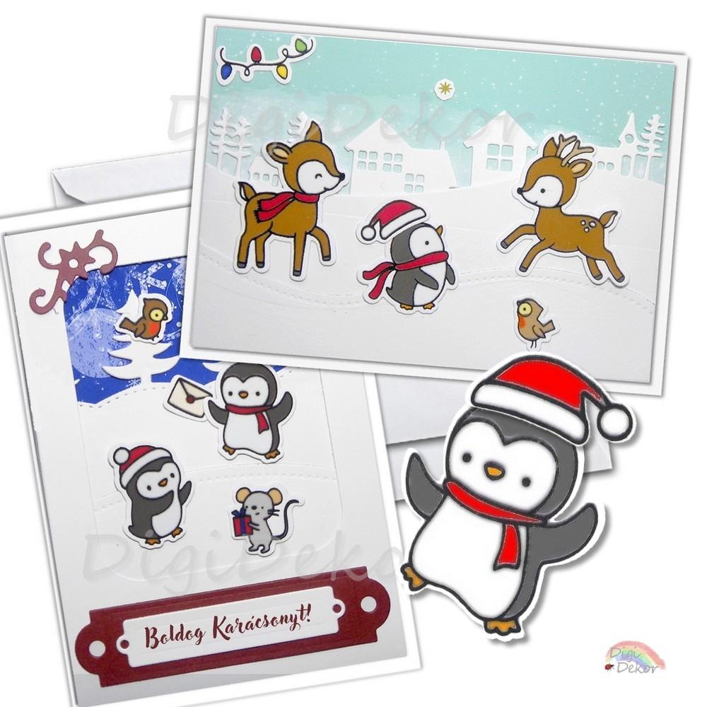 diy karácsonyi képeslap