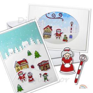 karácsonyi képeslap diy
