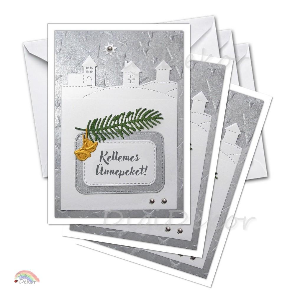 karácsonyi képeslapok készítése saját kezűleg