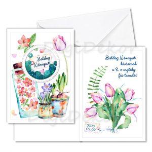 kinyitható nőnapi képeslap