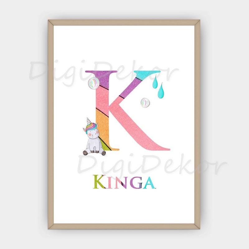 szivárványos betűk babaszobába