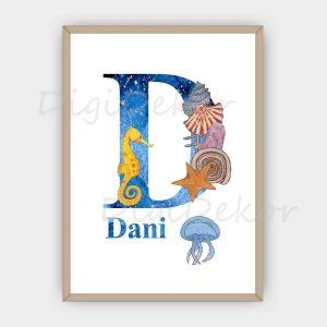 dekor betűk babaszobába