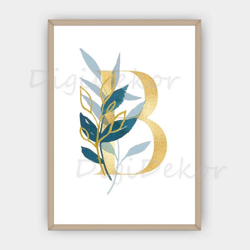 leveles monogram fali dekoráció