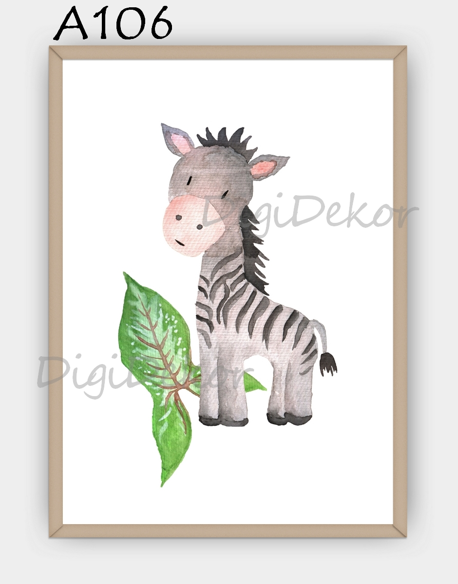 zebrás falikép