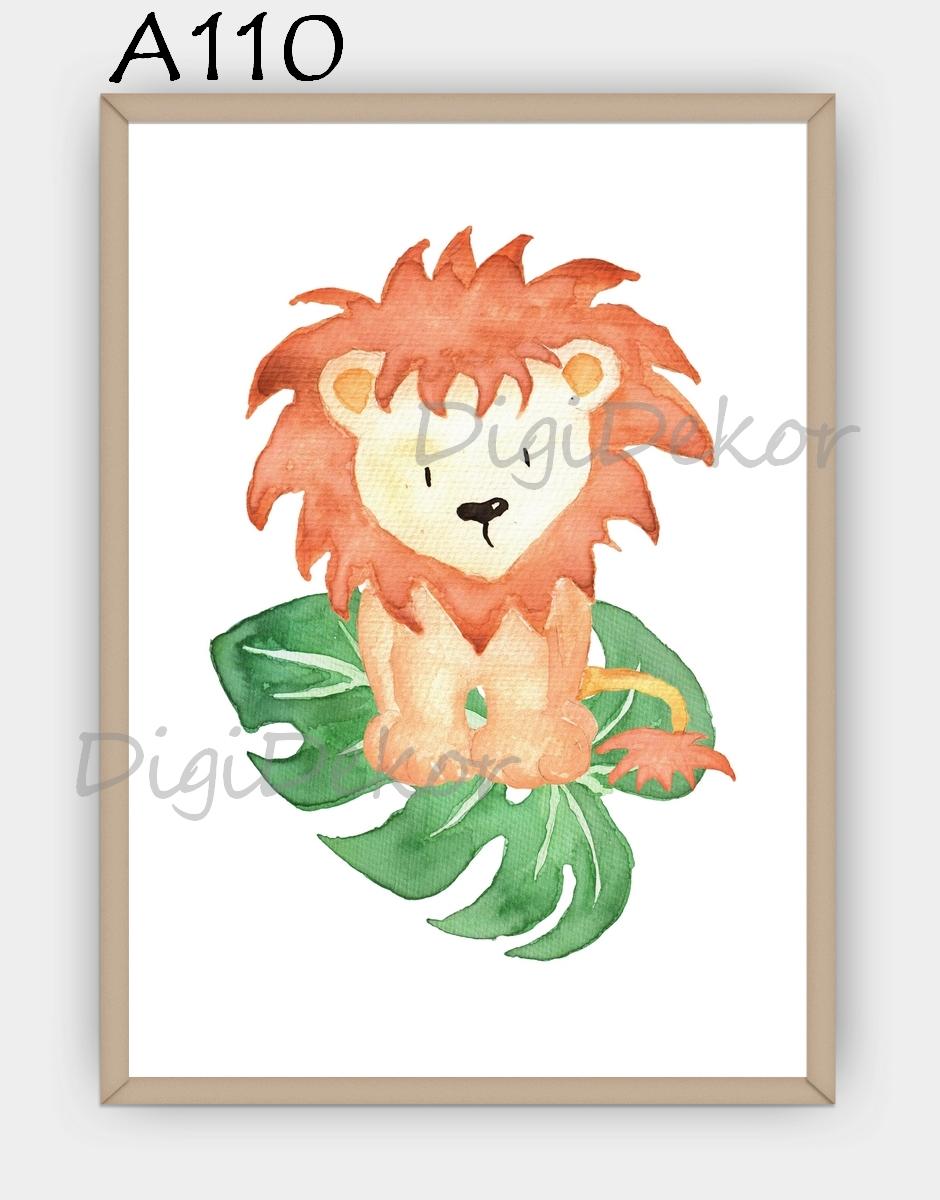 oroszlános falikép