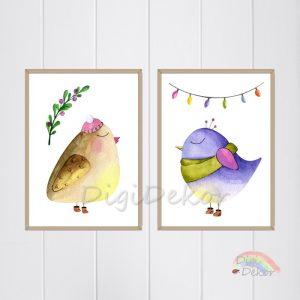téli madárkák ünnepi dekoráció