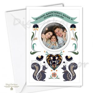 fényképes családi képeslap karácsonyra
