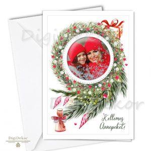 fényképes karácsonyi képeslap