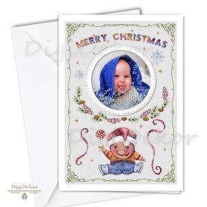 malackás karácsonyi üdvözlőlap fotóval