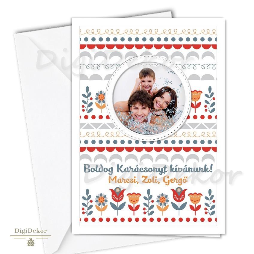 névre szóló fényképes karácsonyi képeslap
