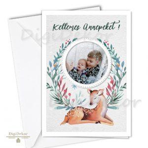 őzikés képeslap karácsonyra