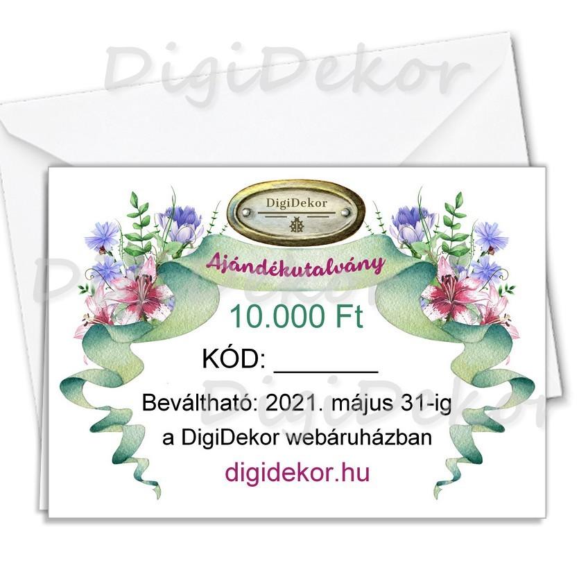 10.000 Ft-os ajándékutalvány DigiDekor