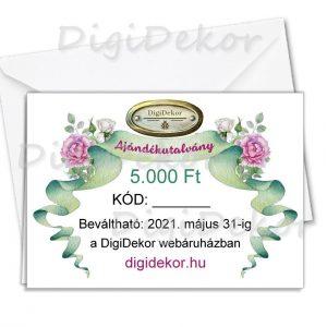 5.000 Ft vásárlási utalvány DigiDekor