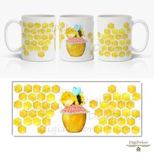 méhsejtes méhecskés bögre