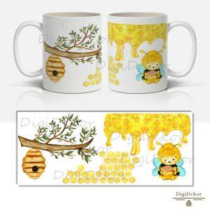 méhkasos mézes méhecskés bögre