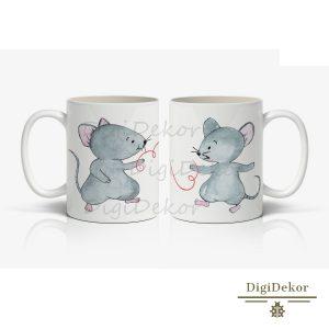 aranyos egeres-cérnás bögre