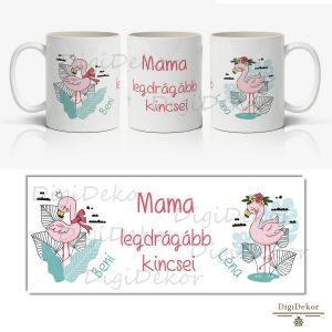 flamingós mama bögre névvel