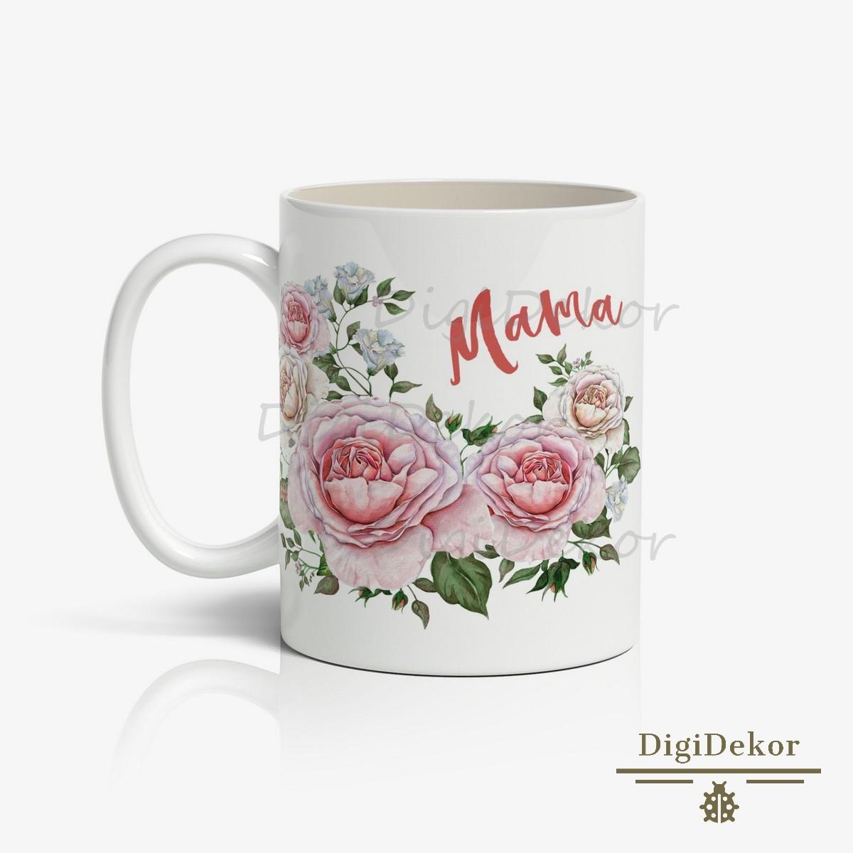 romantikus virágos mama bögre