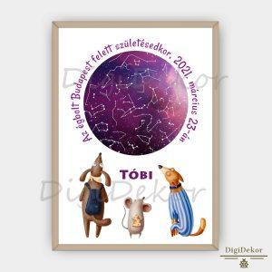 Mókás kutyás-egeres csillagok állása ajándék