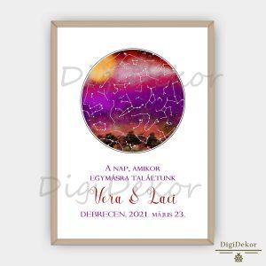 hangulatos csillagkép térkép évfordulóra esküvőre