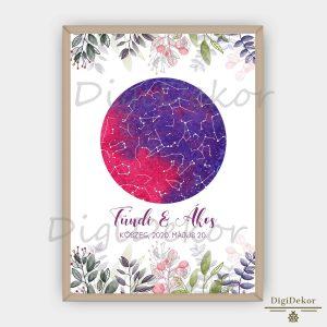 Leveles-virágos csillagkép ajándék