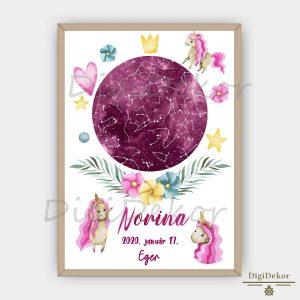 Egyszarvús csillagállás ajándék kislányoknak